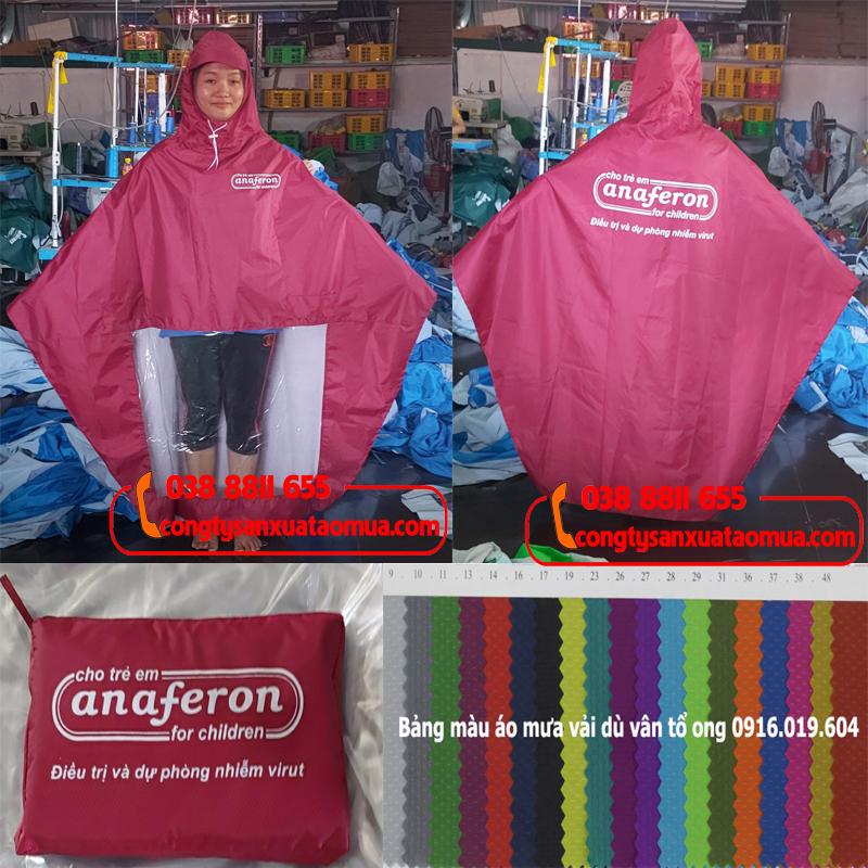 xưởng may áo mưa quà tặng in logo