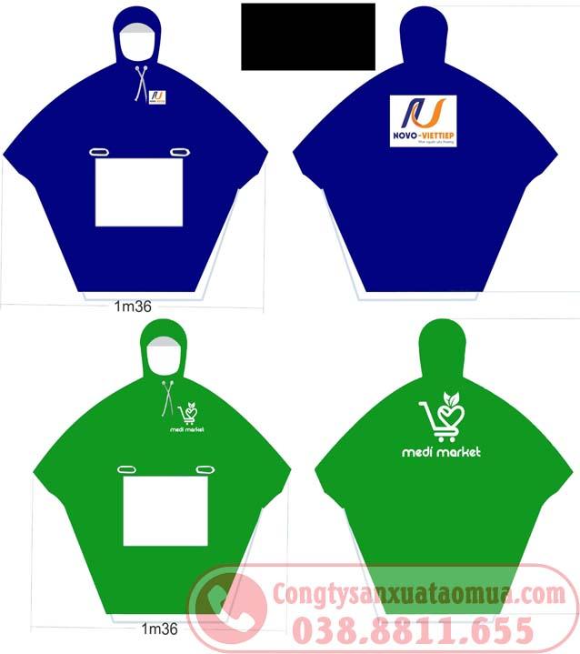 Thiết kế áo mưa in logo làm quà tặng công nhân viên khách hàng