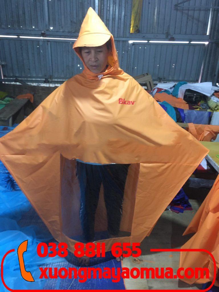 Xưởng may áo mưa nhựa in logo giá rẻ