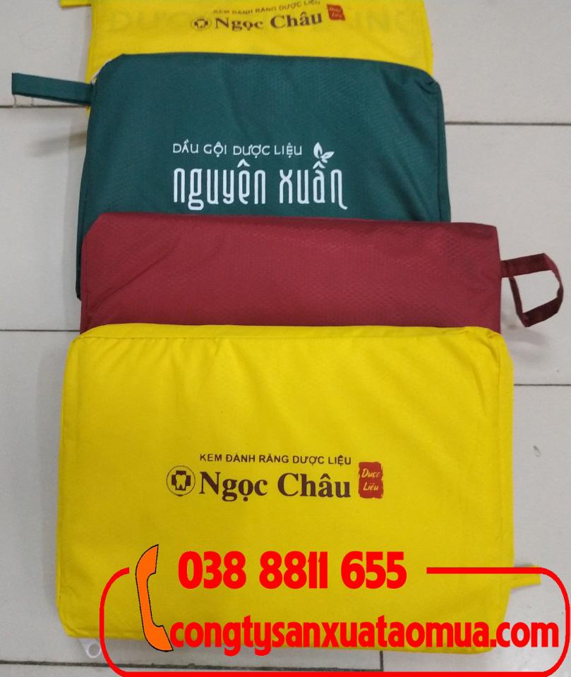Xưởng may áo mưa quà tặng in logo tại hà nội