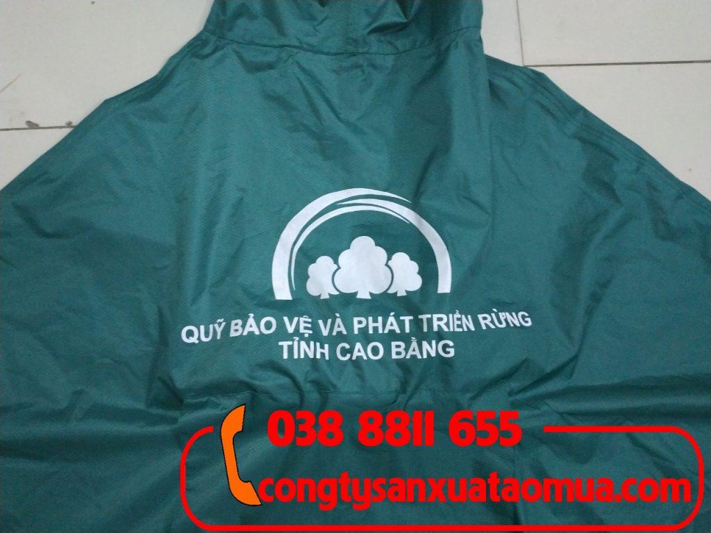 In logo lên áo mưa