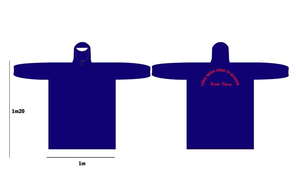 Thiết kế sản xuất áo mưa in logo theo yêu cầu