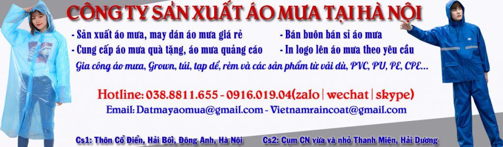 Công ty sản xuất áo mưa theo yêu cầu tại Hà Nội