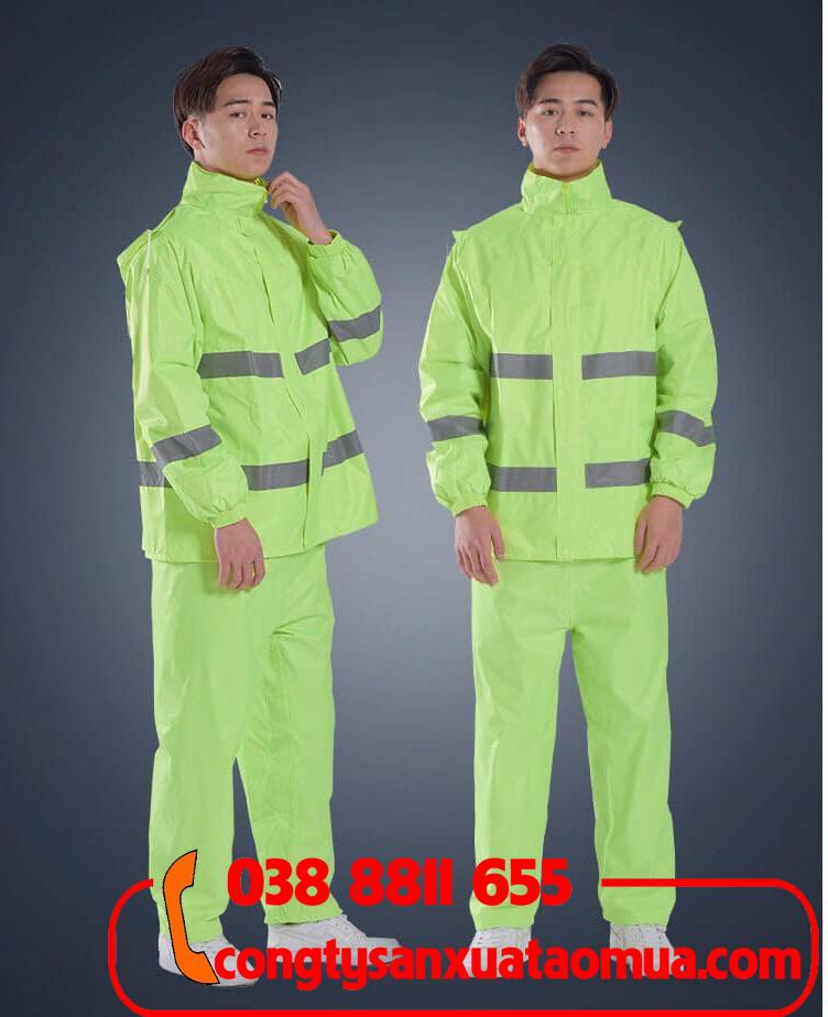 công ty sản xuất áo mưa bộ gắn phản quang