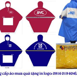 nhà cung cấp áo mưa quà tặng in logo tại Hà Nội