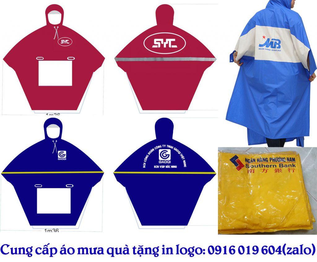 sản xuất áo mưa quà tặng in logo công ty công đoàn tại Bắc Ninh