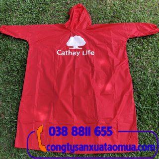 đặt áo mưa quà tặng in logo làm quà tặng công nhân viên