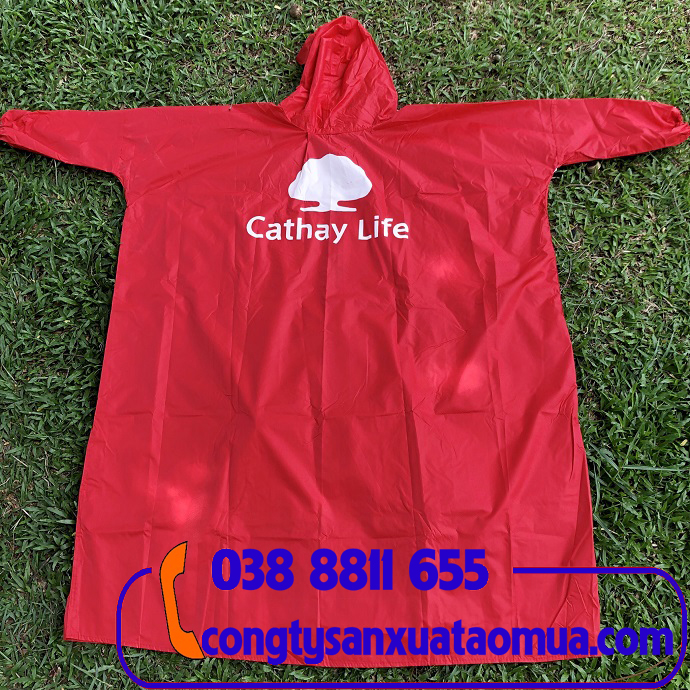 Sản xuất áo mưa quà tặng in logo