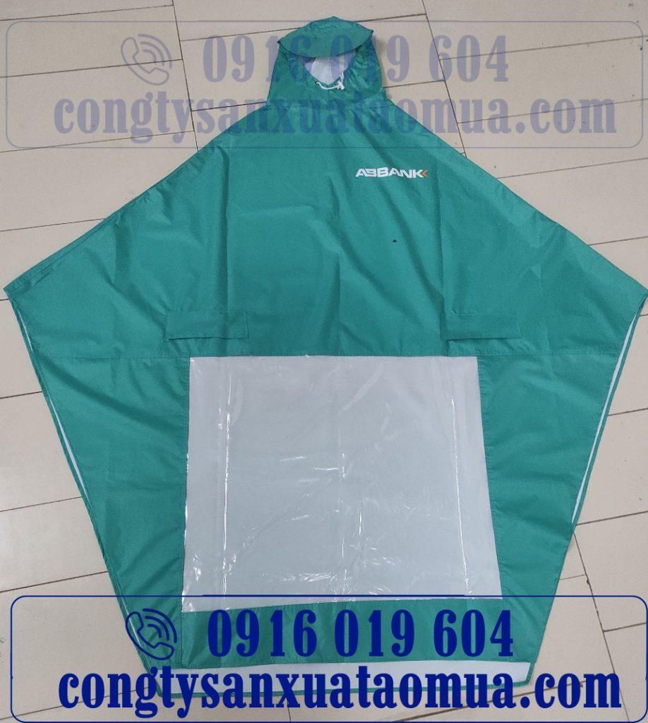 Mẫu áo mưa quà tặng ngân hàng ABBank Hà Nội