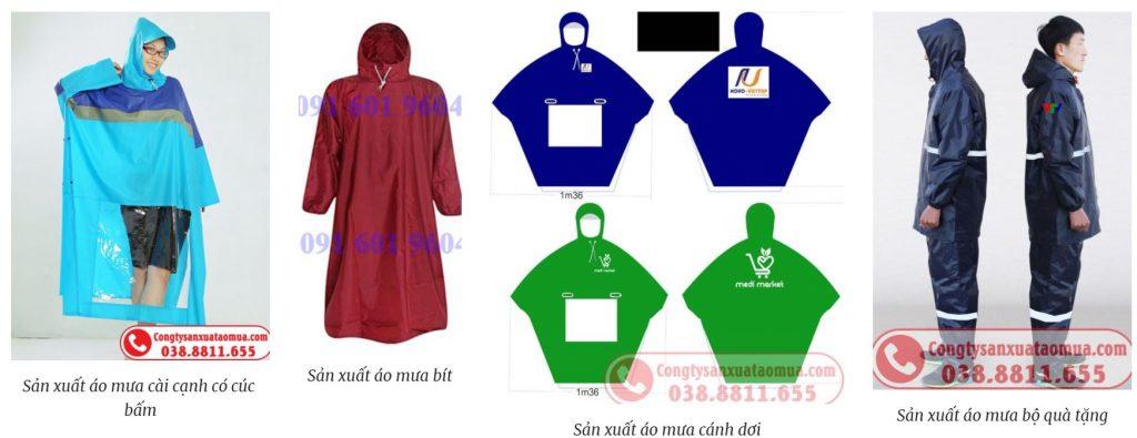 Các sản phẩm áo mưa quà tặng khách hàng có thể lựa chọn