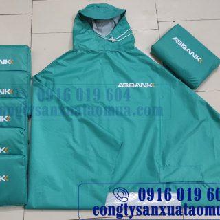 Sản xuất áo mưa quà tặng ngân hàng abbank