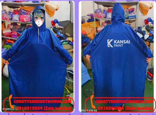 sản xuất áo mưa bít hông quà tặng in logo khách hàng