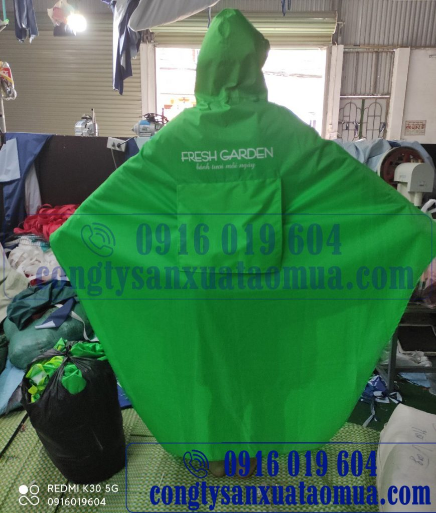 Sản xuất áo mưa áo mưa hai đầu quà tặng in logo