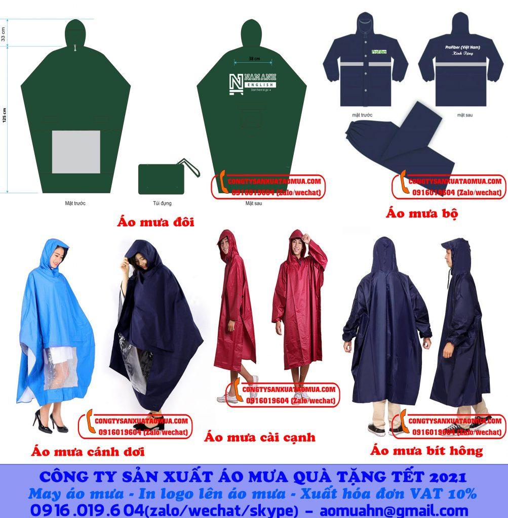 Công ty sản xuất áo mưa quà tặng tết 2021