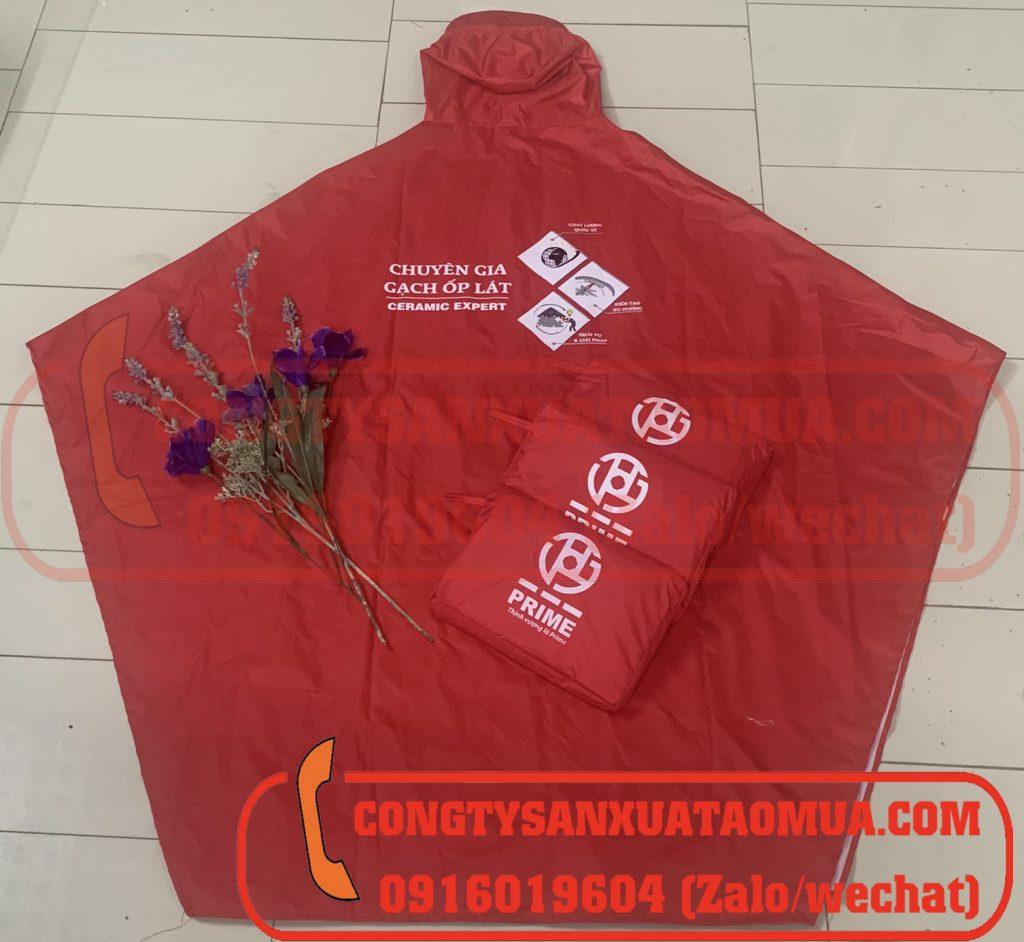 Xưởng sản xuất áo mưa quà tặng in logo công ty/ công đoàn