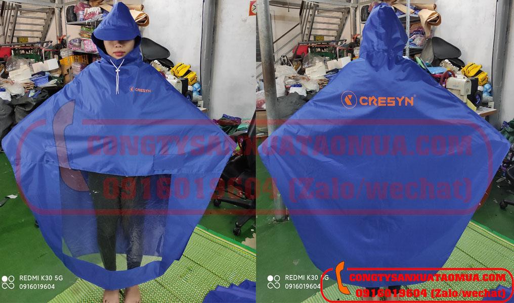 Sản xuất áo mưa vải dù dày nặng in logo công ty Cresyn hà Nội tại Bắc Ninh