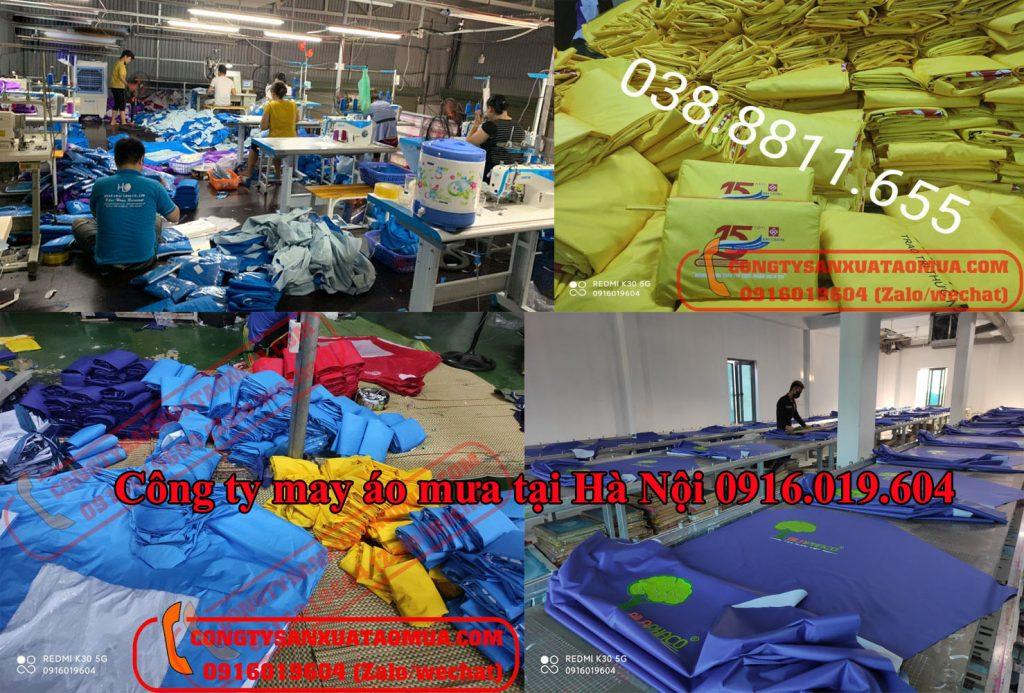 Công ty may áo mưa in logo tại Hà Nội