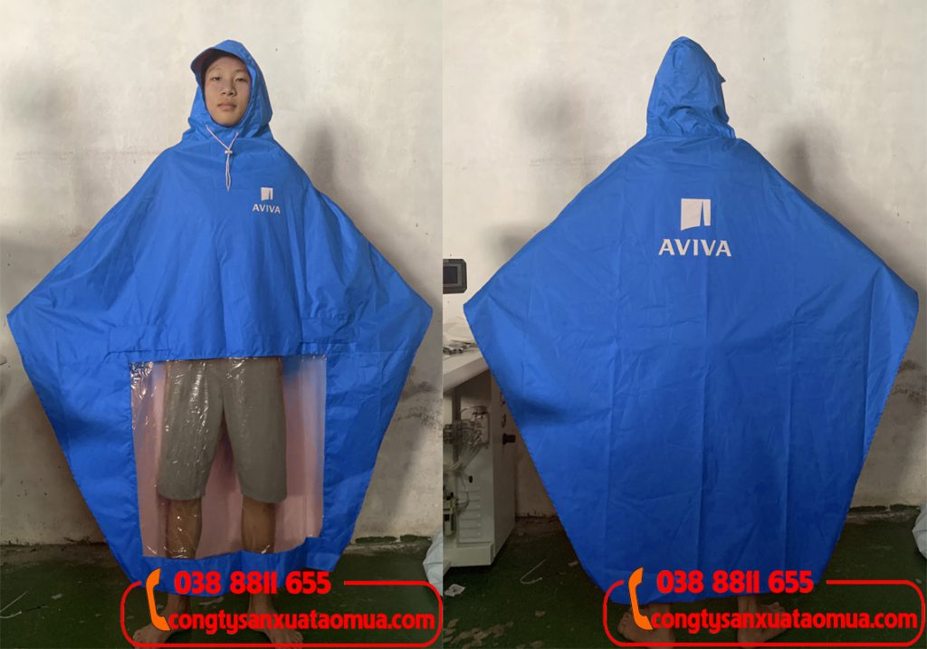 xưởng may áo mưa quà tặng công nhân công ty aviva
