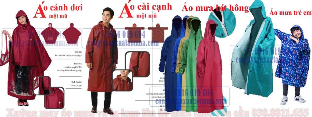 sản xuất áo mưa quà tặng, áo mưa quảng cáo theo yêu cầu