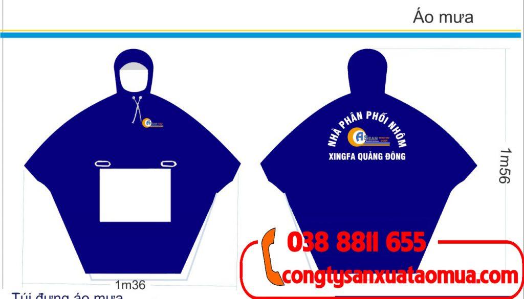 Xưởng nhận thiết kế in áo mưa quảng cáo theo yêu cầu khách hàng