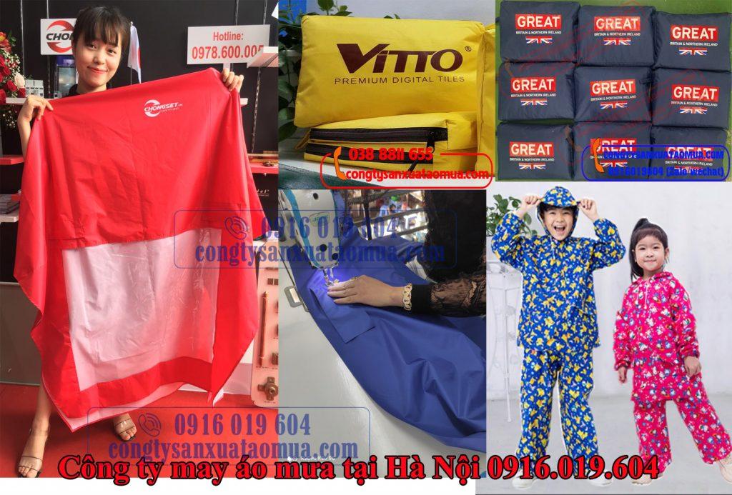 xưởng sản xuất áo mưa quà tặng in logo cho các nhãn hàng trên toàn quốc