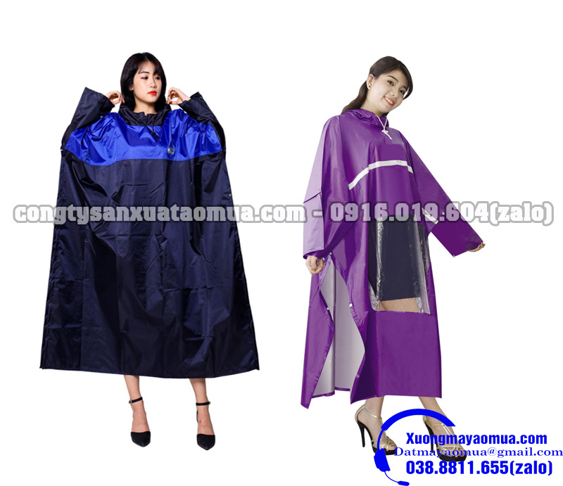 Xưởng sản xuất áo mưa cài cạnh theo yêu cầu tại Hà Nội
