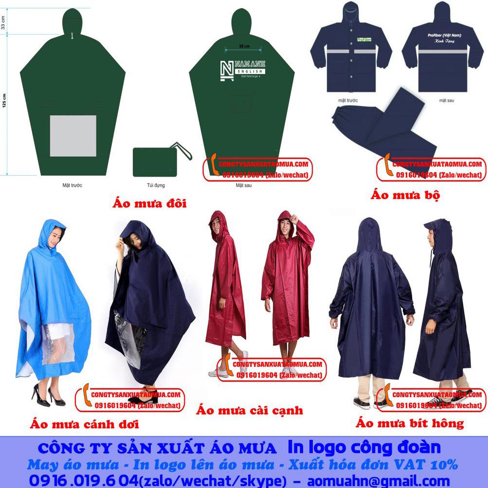 Thiết kế và sản xuất áo mưa tại xưởng may áo mưa Hà Nội
