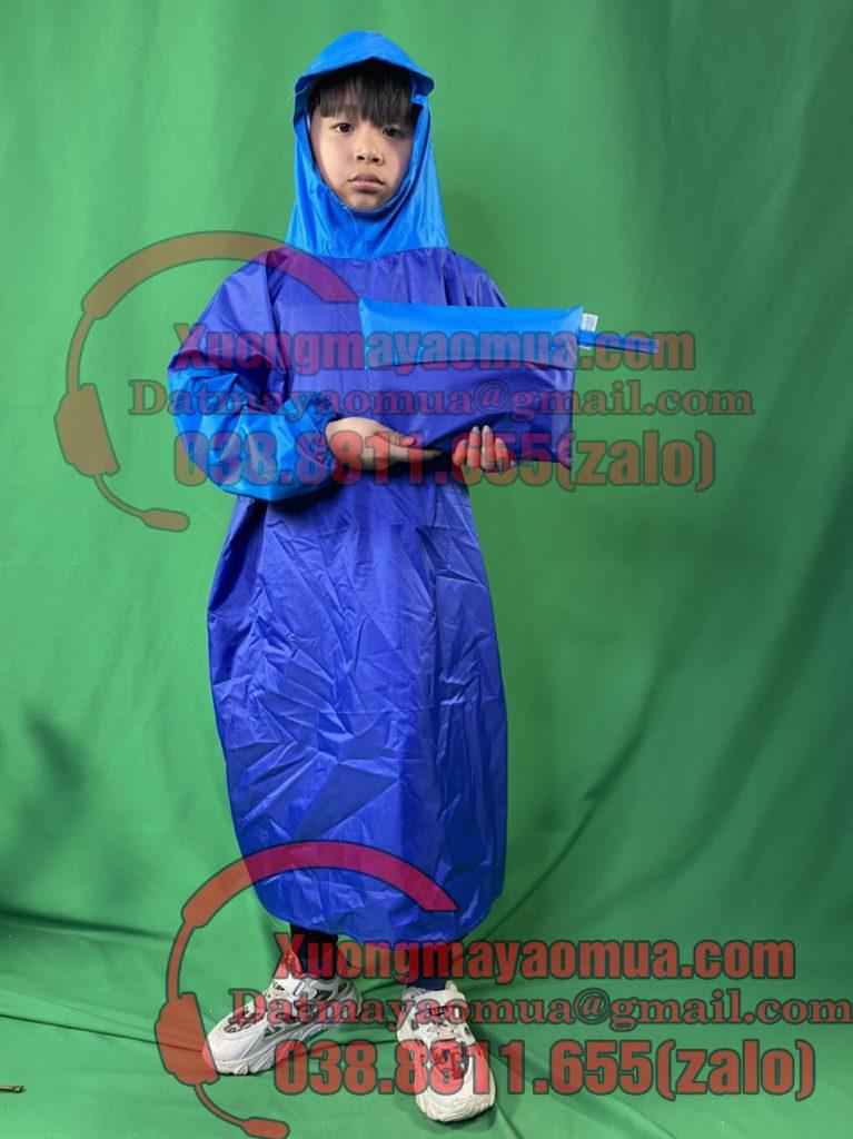 xưởng may áo mưa trẻ em in logo tại Hà Nội