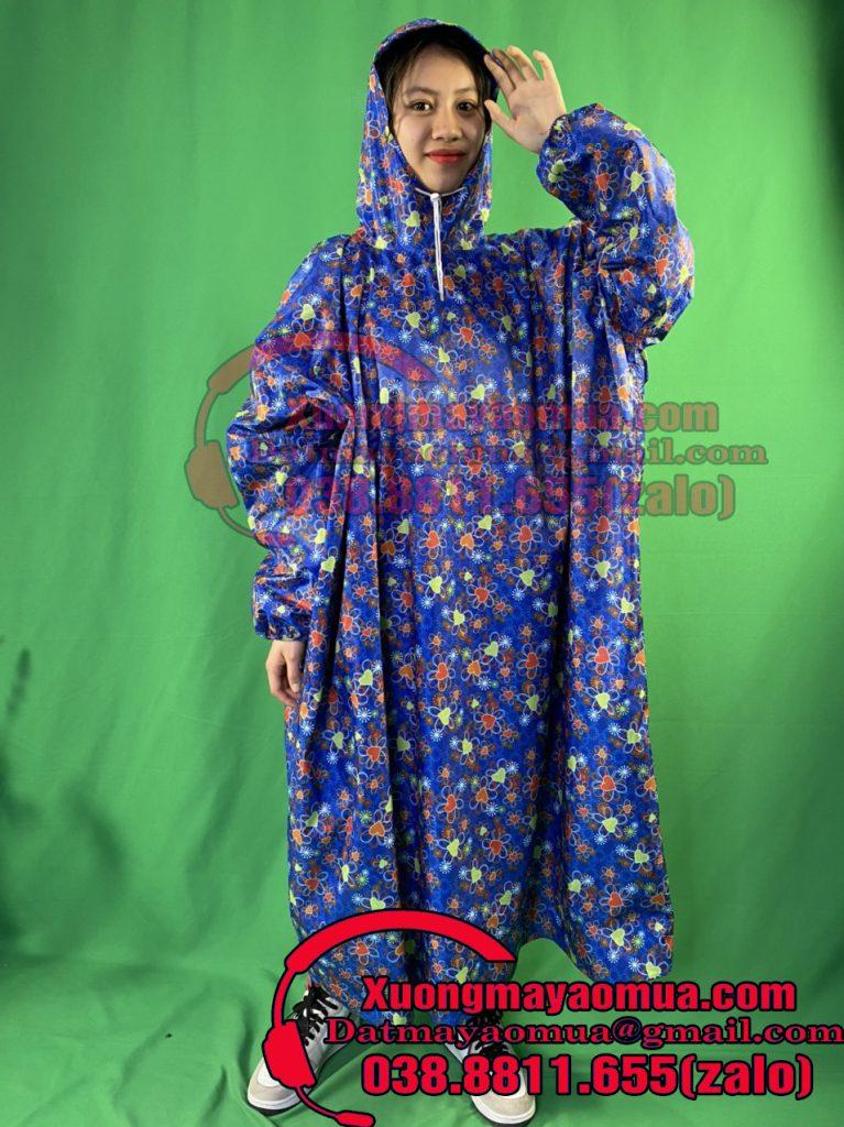 sản xuất áo mưa trẻ em vải dù họa tiết