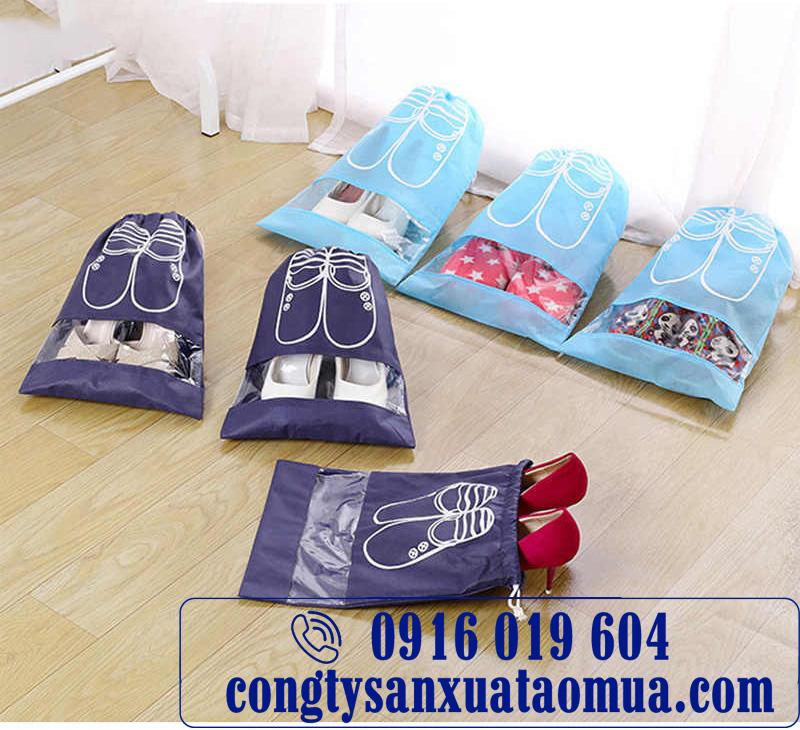 Xưởng may túi đựng giày chống thấm in logo tại Hà Nội