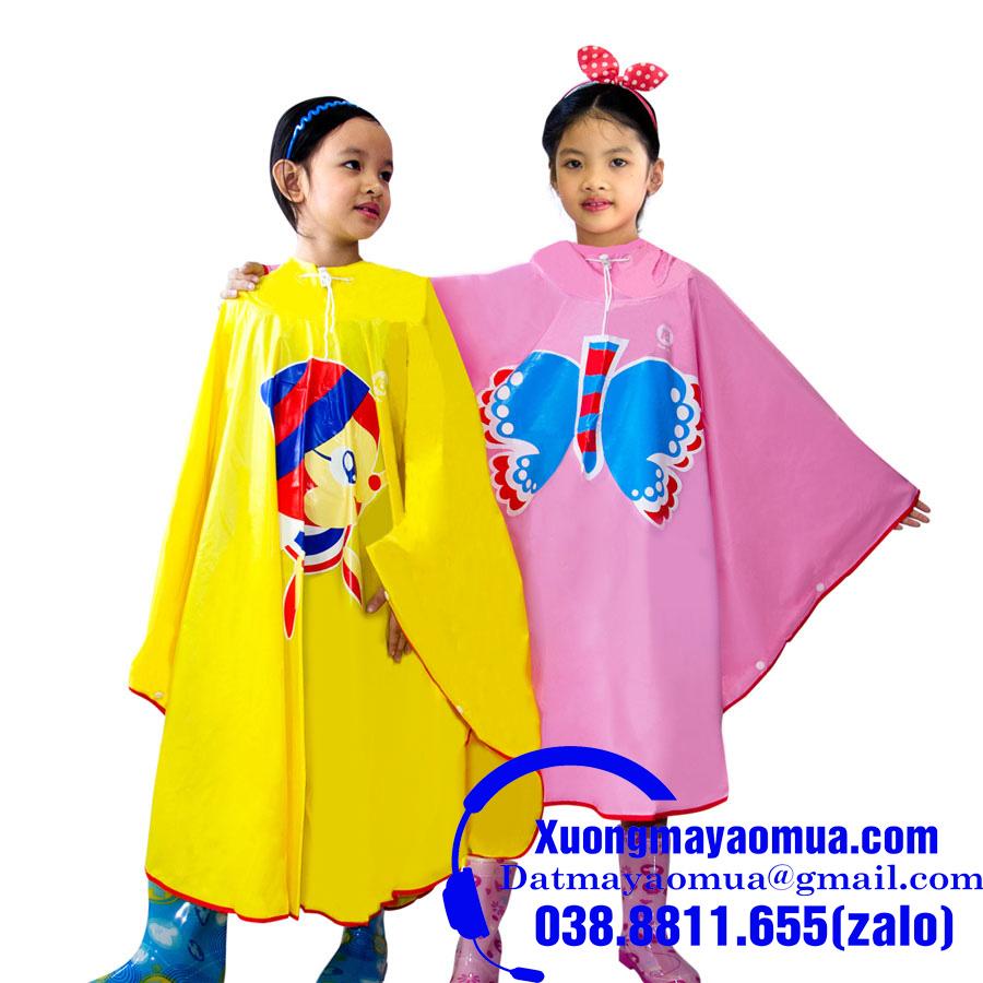 Áo mưa trẻ em cánh bướm vải nhựa Rạng Đông 0.17dzem