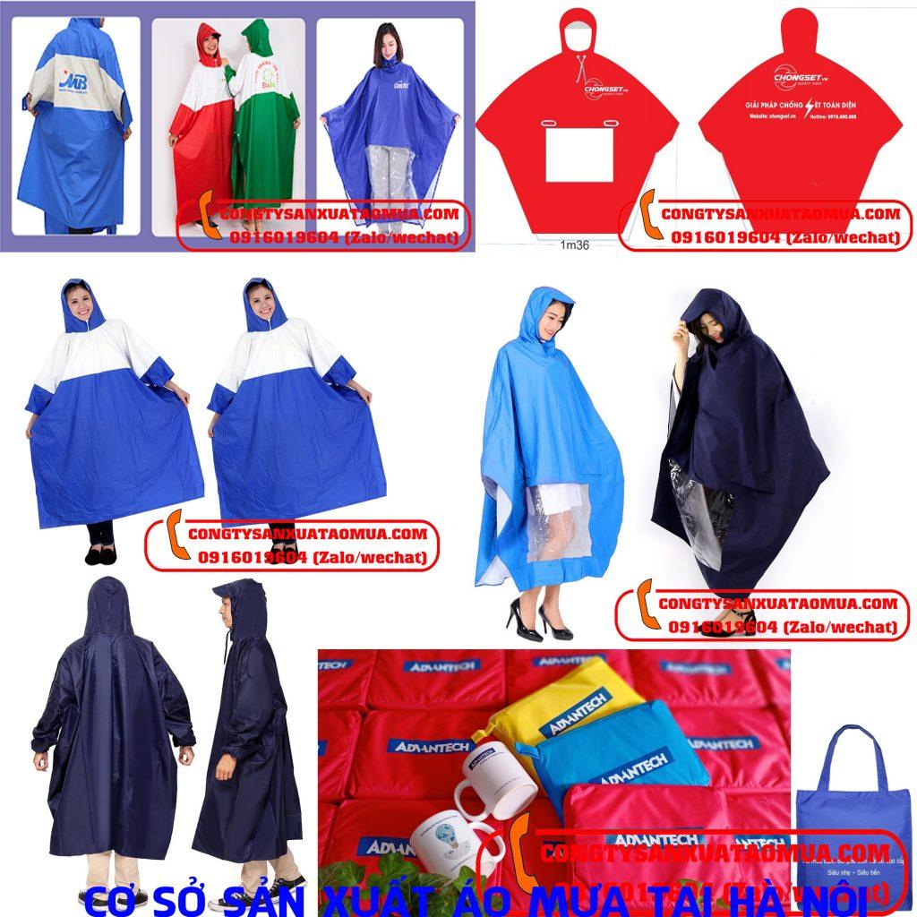 Cơ sở sản xuất áo mưa in logo danh nghiệp
