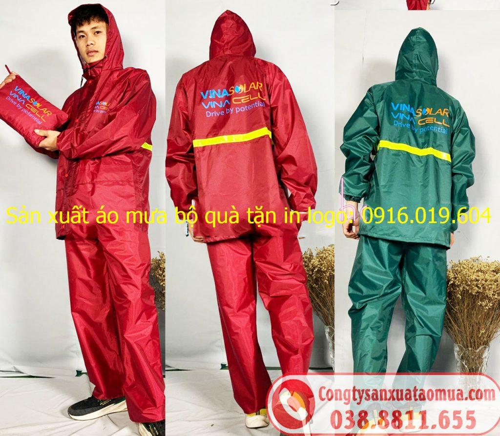 Sản xuất áo mưa bộ quà tặng in logo khách hàng