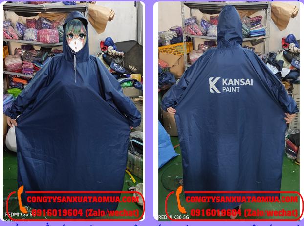 Sản xuất áo mưa bít hông in logo tại nam Định