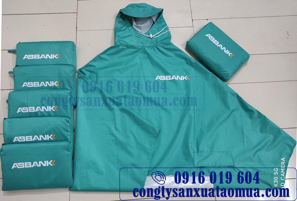 Sản xuất áo mưa in logo ngân hàng, doanh nghiệp tại nam Định