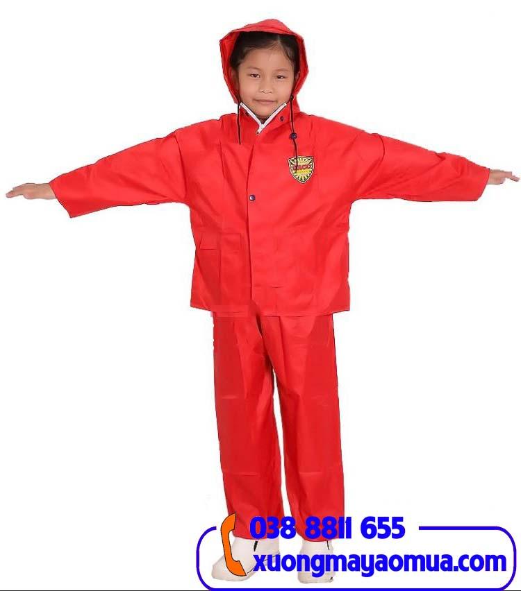 May áo mưa bộ cho trẻ em