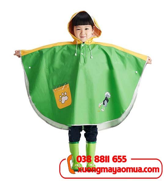 May áo mưa cánh dơi cho trẻ em