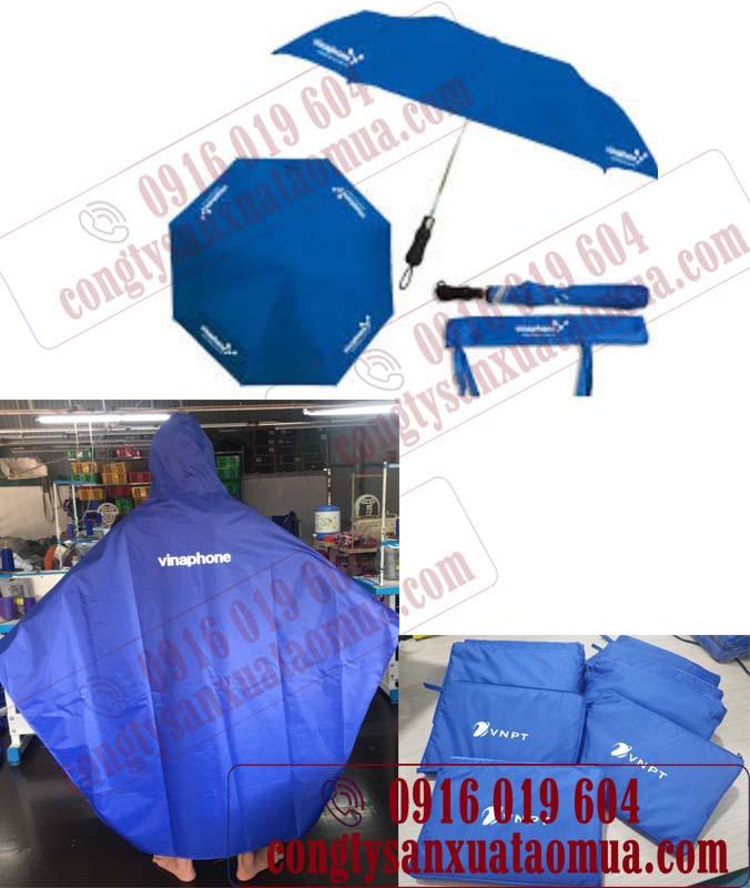 May áo mưa và ô in logo cho nhãn hàng vinaphone