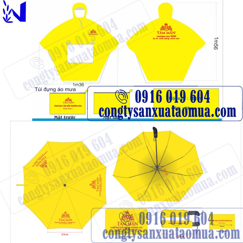 Sản xuất ô và áo mưa in logo theo yêu cầu
