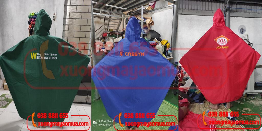 In áo mưa quà tặng công ty/ công đoàn