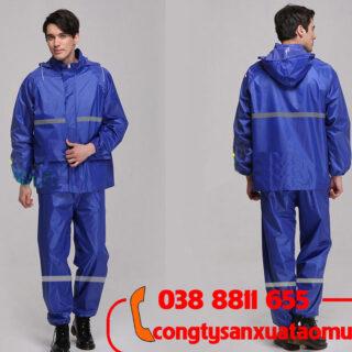 May áo mưa bộ có phản quang in logo khách hàng