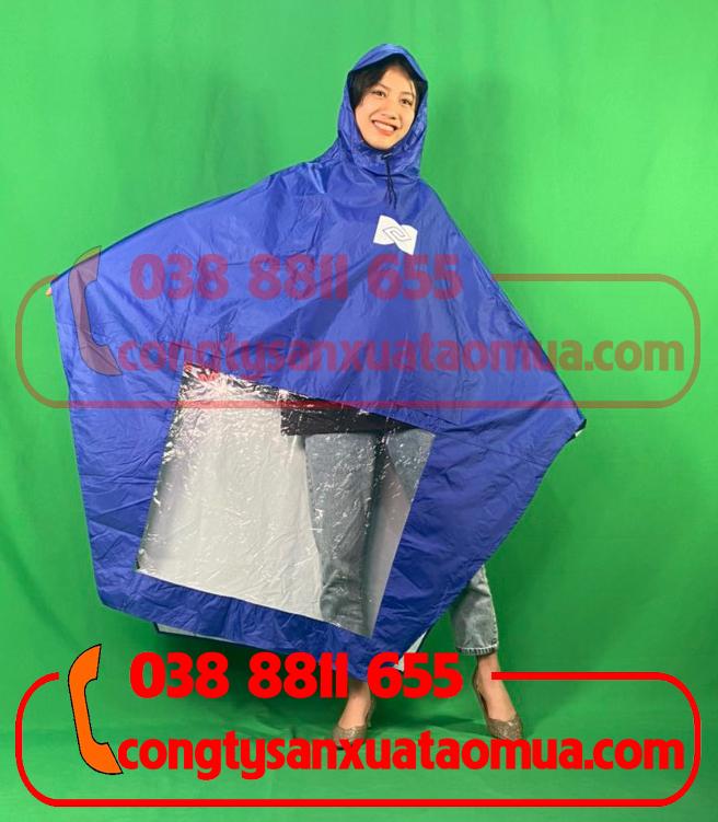 May áo mưa cánh dơi vải dù in logo khách hàng