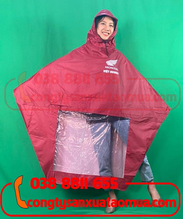 May áo mưa quà tặng cửa hàng, head ủy nhiện Honda màu đỏ đô